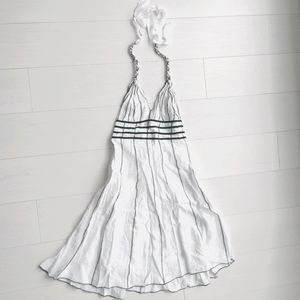 NWOT Midi cotton halter dress medium m
